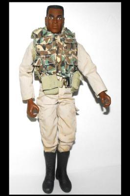 Vintage 1996 African American Gi Joe Army Soldier Doll