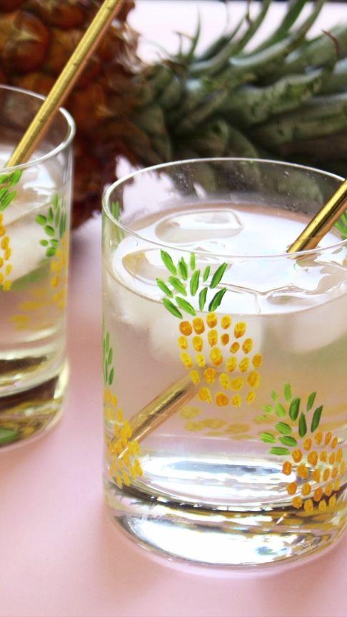DIY Pineapple Tumblers