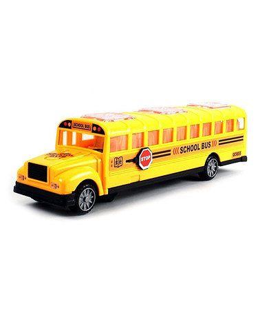 Another great find on #zulily! Bump & Go Toy School Bus #zulilyfinds