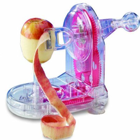 Starfrit 93013 Pro-Apple Peeler with bonus core slicer - love this little gadget. At first I was skeptical because it's all plastic, but it works great & it's so FAST!