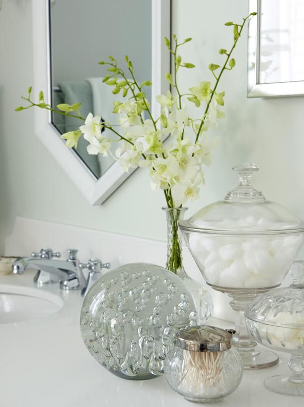 Stock the bathroom vanity with the little amenities for your guests