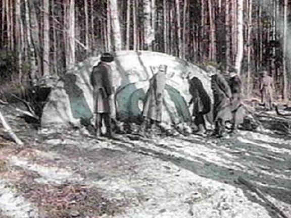 Actual KGB file photo of crashed UFO in Sverdlovsk, Russia in March of 1969. Description from beforeitsnews.com. I searched for this on bing.com/images