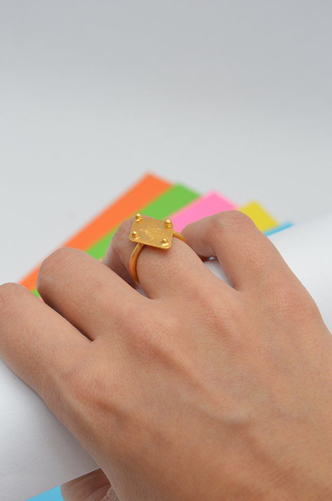 Ring Rhombus Sustainable jewelry-Lecat