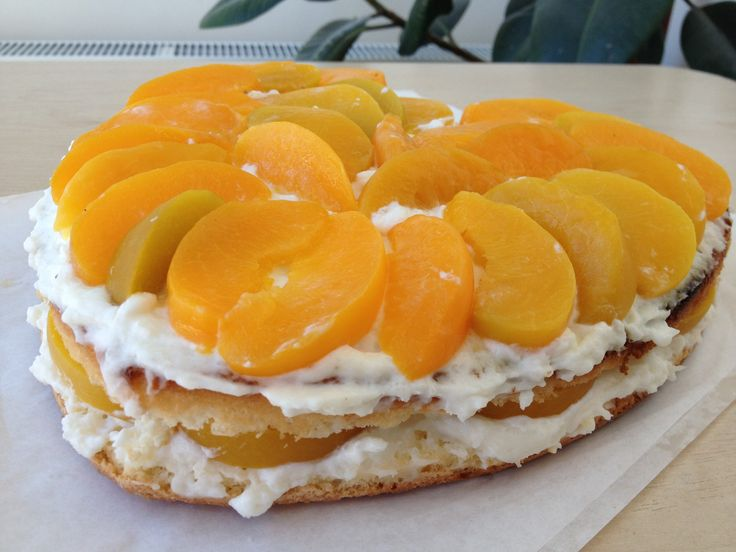 Фруктовый торт с очень вкусным кремом, легко и быстро (fruit cake recipe)