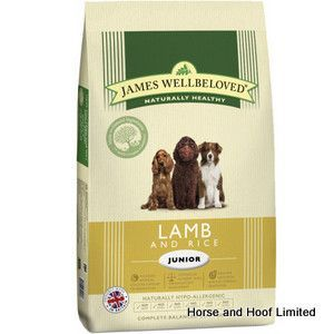 James Wellbeloved Lamb Rice Junior Dog Food 15kg James Wellbeloved Lamb Rice Junior Dog Food is a naturally hypoallergenic mixture that is suited towards young dogs that are in their last stages of growth.