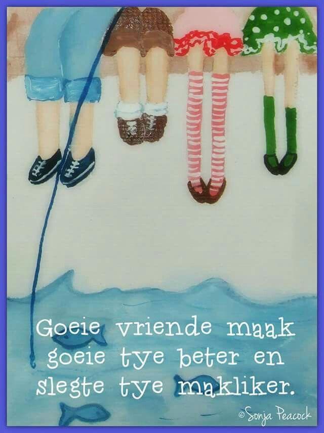 Vriende __© Sonja Peacock #Afrikaans #Friends