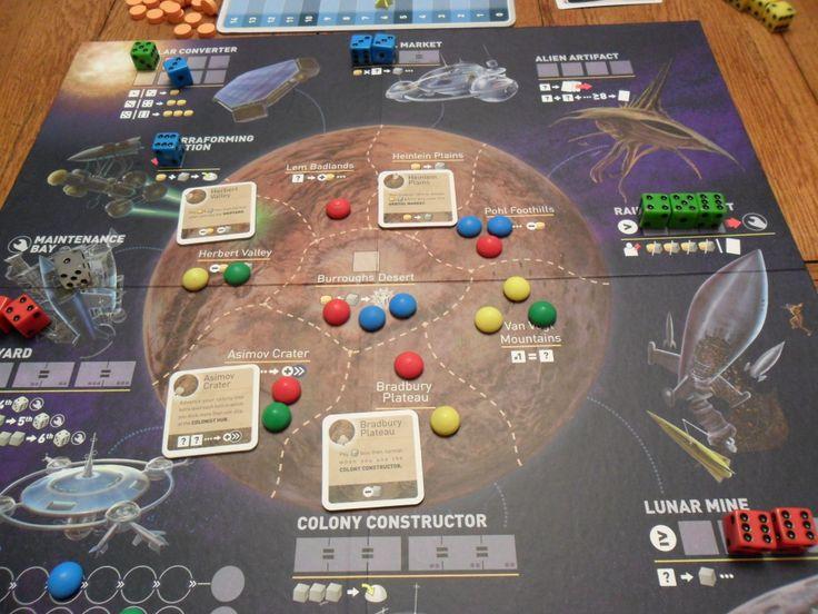 game board, alien planet