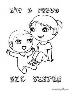 Im a Big Sister Printable Big