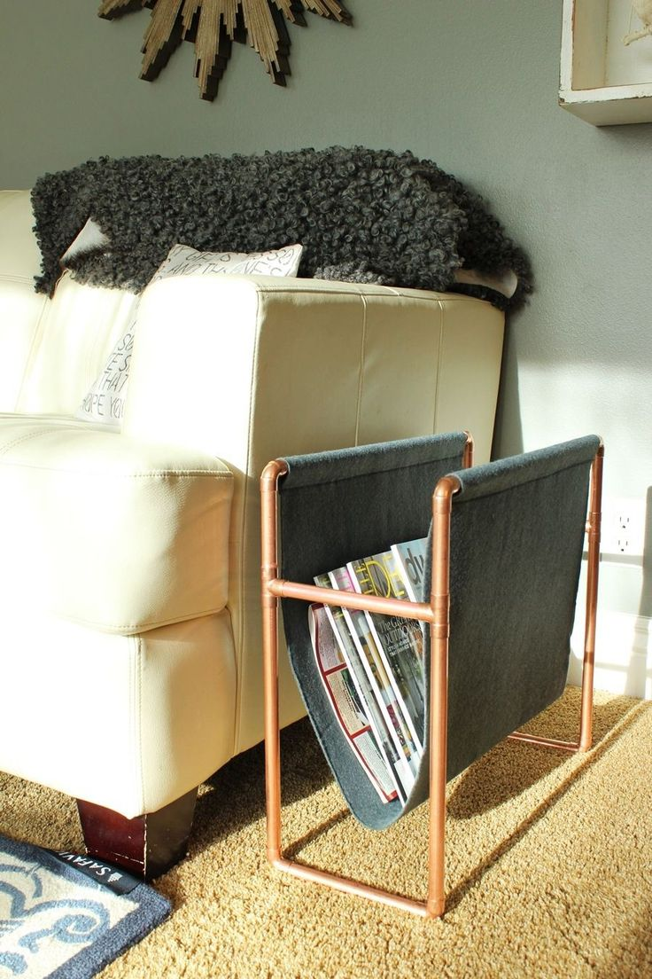 Chic DIY Copper Magazine Holder: How to Make this Surprisingly Easy Piece - DIY Totally