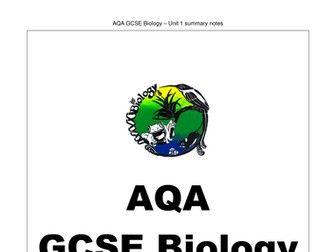 AQA GCSE Biology Unit 1 Revision Notes