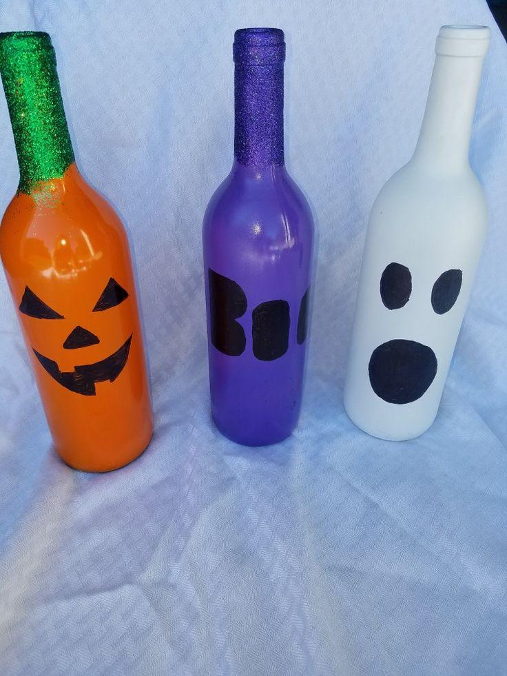 Best 25 halloween wine bottles ideas on pinterest wine for Wine bottle crafts for sale