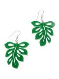 Large Tropical Leaf Earrings