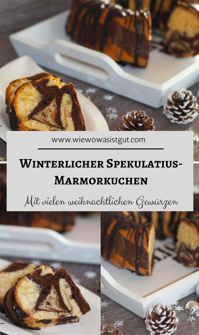 Ein Marmorkuchen mit winterlichem und weihnachtlichem Touch – ein Traum. Mit viel Zimt, Vanille und natürlich Lebkuchen- und Spekulatiusgewürz. Mit dem Thermomix (oder der Küchenmaschine) ratz-fatz gemixt. Etwas Kuvertüre drüber und fertig ist der besten Adventskuchen ever. Weihnachten darf kommen. #marmorkuchen #weihnachten #lebkuchen