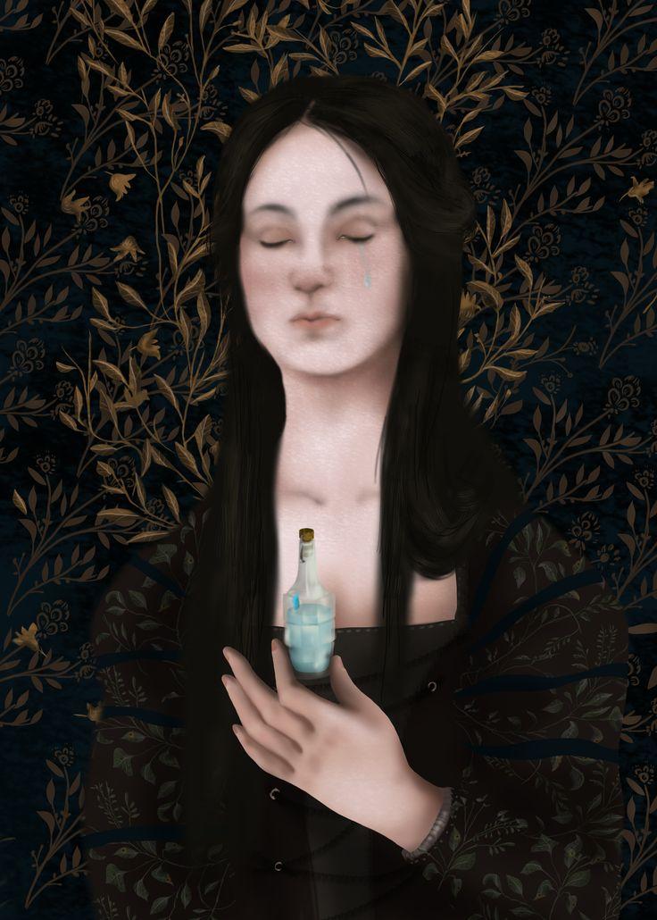 "Julia and poison, ""Romeo and Juliet"" by William Shakespeare, Illustration Paulina Wyrt GREG Publishing House, 2016"