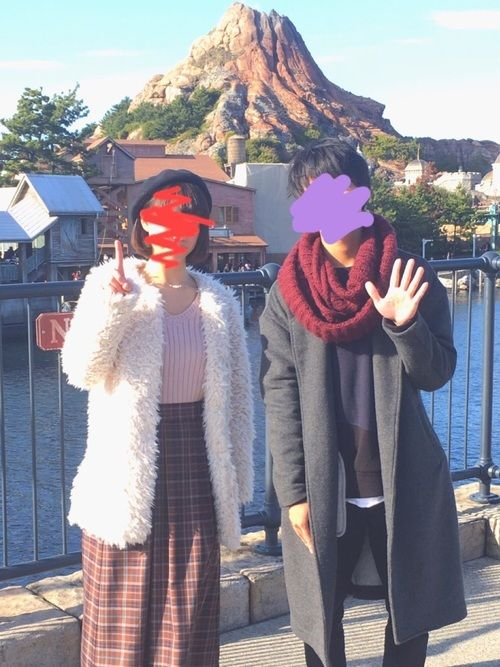 12/24 彼氏とディズニーシー行って幸せ♡ とても最高で楽しくて次の日バイト死んだ