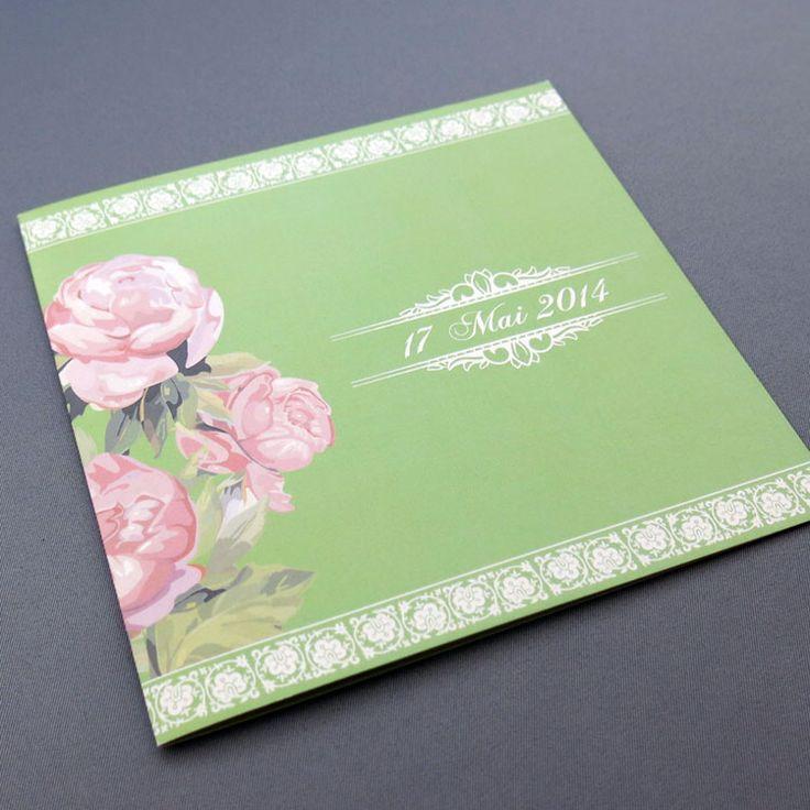 Invitaţie de nuntă Bujor http://designbyclarice.ro/