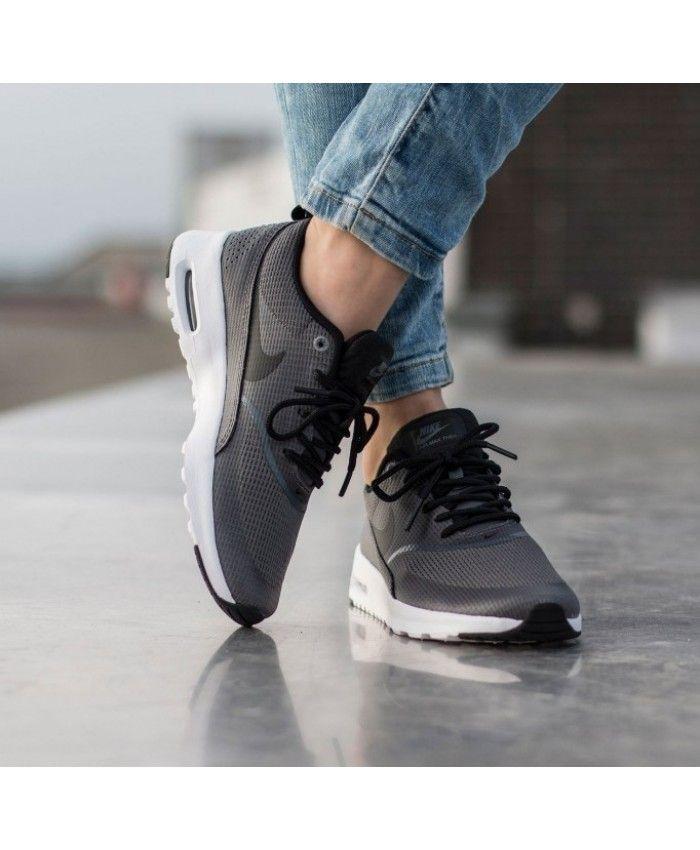 size 40 e388e 74df9 Nike Air Max Thea Black Grey White Trainer