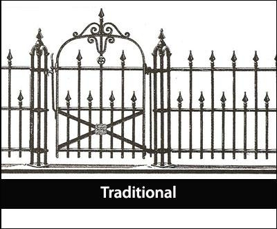Traditional Iron Fence | Ideal for churches and cemeteries