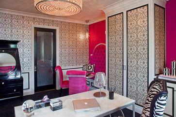 Home office hollywood regency bedroom design ideas for Denise richards home decor