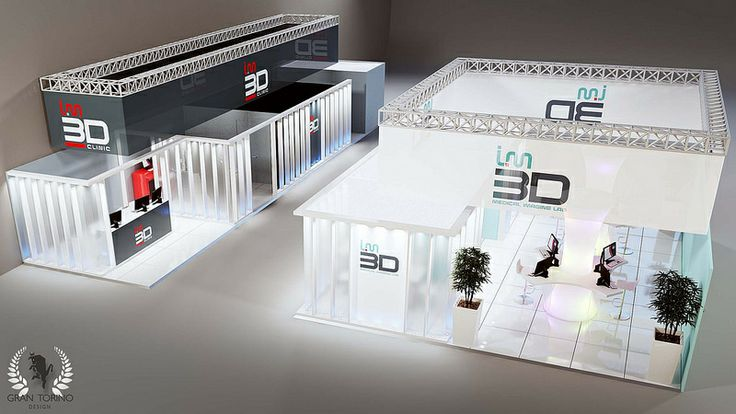 IM3D medical imaging lab stand at SIRM congress in Turin, Italy. Gran Torino Design, 2012.
