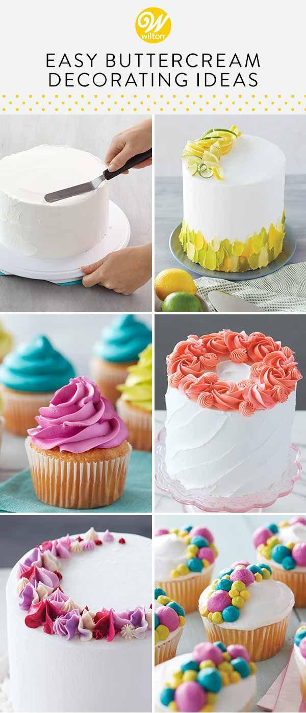 10 Easy Buttercream Cake Decorating Techniques Wilton Buttercream Cake Decorating Easy Cake Decorating Cake Decorating For Beginners