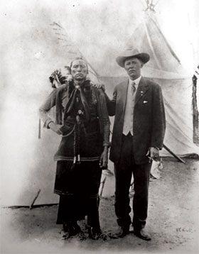 Captain Burnett with Quanah Parker.