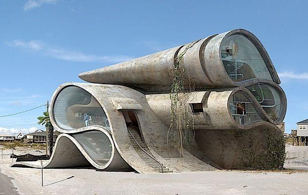 Futuristische Architektur von Dionisius González