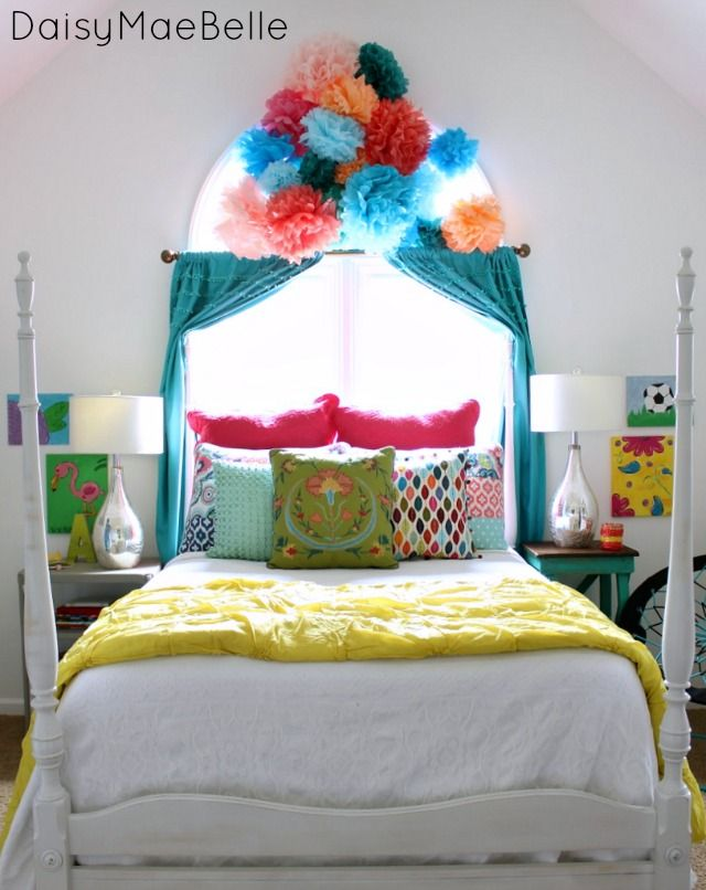 Final reveal of anna belle 39 s room bright colours bright for 6 x 8 bedroom ideas