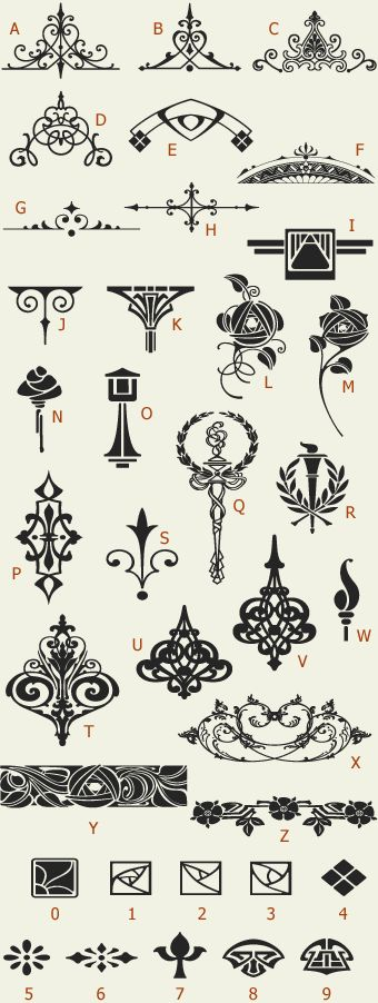 Letterhead Fonts / LHF Golden Era Art Elements / Golden Era Studios