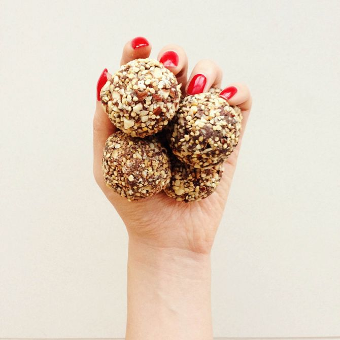 """Ferrero Rocher"" Black Bean Chocolate Truffles"