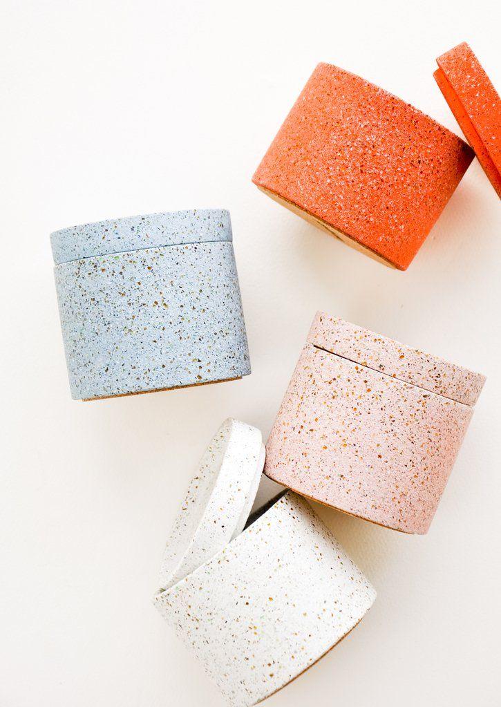 Terrazzo Chip Jar Jar Packaging Terrazzo Recycled Concrete