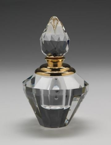 Diamond Crystal with Gold Accent - Perfume Bottles