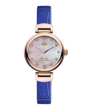 Hampton rose gold-tone & blue watch Sale - Vivienne Westwood Sale