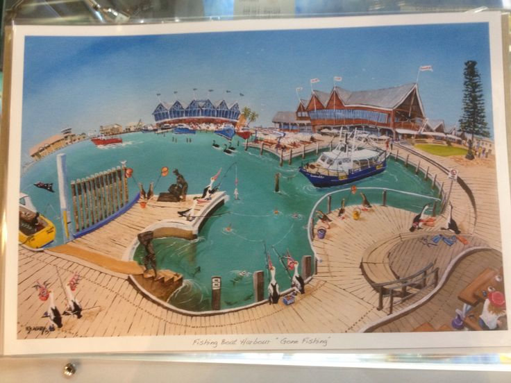 """Fremantle Boat Harbour """" Gone Fishing"""""""