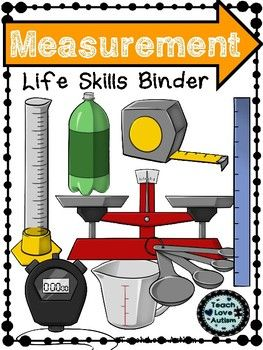This is part of a bigger Bundle that is currently growing! Check it out here!! Life Skills Independent Work Task BindersCheck out a Video Product Preview of a another one of these sets! The 9 sets currently offered in the bundle are:-Time-Money-Measurement-Community-Household -Food-Maps-Clothing-Calendar ConceptsThis set includes over 100 pages of resources to work on measurement.