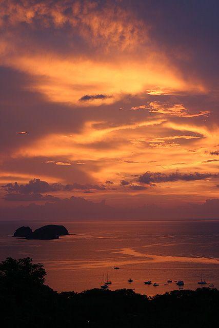 #Sunset. Playa Hermosa, #Guanacaste, #CostaRica. #beaches