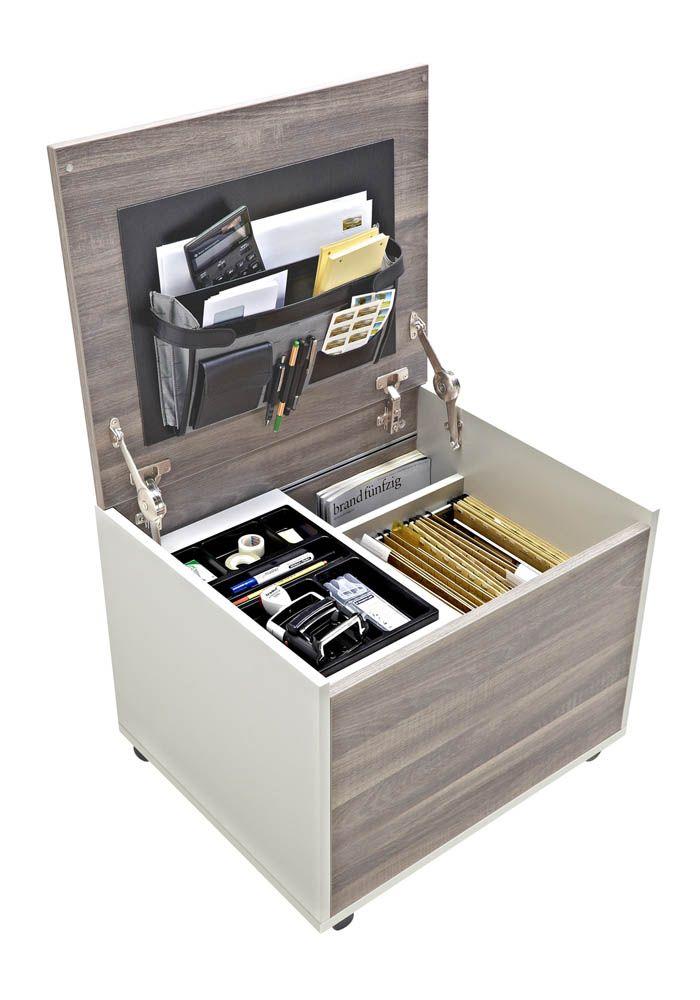 Aktenroller Strike driftwood/weiß passend für A4-Hängeregister von büroshop24 -