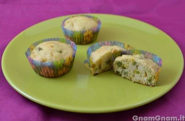 Muffins alle verdure senza uova e senza latte