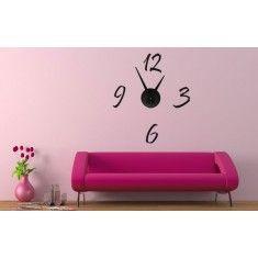 Relojes de vinilo a tu gusto. Elige entre nuestros vinilos decorativos y a la vez de decorar pon un reloj en la parte que más te guste de tu casa.