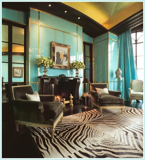 Bold Idea Cheap Interior Design Ideas For Apartments Great: Sexy Animal Print Living Room. Image Via Dwell By Cheryl