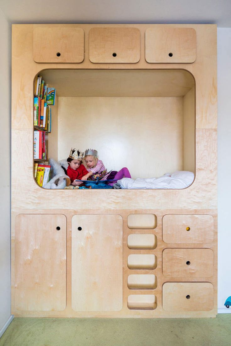 kids bedroom design idea include a cubby or reading nook for them to play in - Kids Room Design Ideas