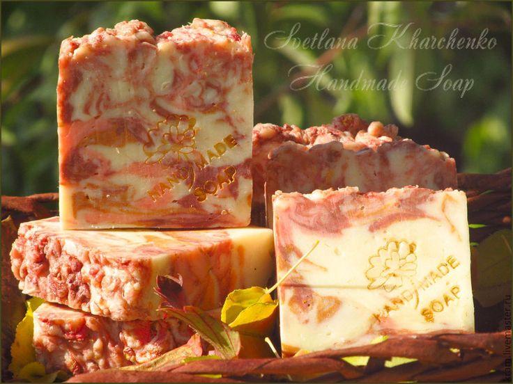 """Купить Мыло """"Сладкий ноябрь"""" с шелком, натуральное, с нуля, рябина - Осенние цвета, осенняя мода"""