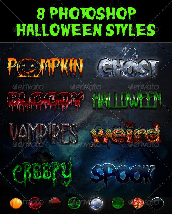 Halloween Styles #GraphicRiver 1. 8 Halloween font styles 2. ASL ...