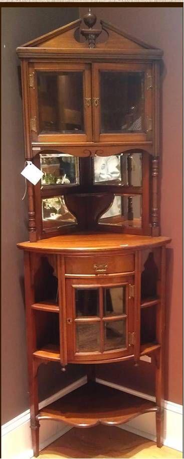 dining room display cabinets ebay. antique late 1800\u0027s victorian mahogany/walnut corner display cabinet cupboard dining room cabinets ebay