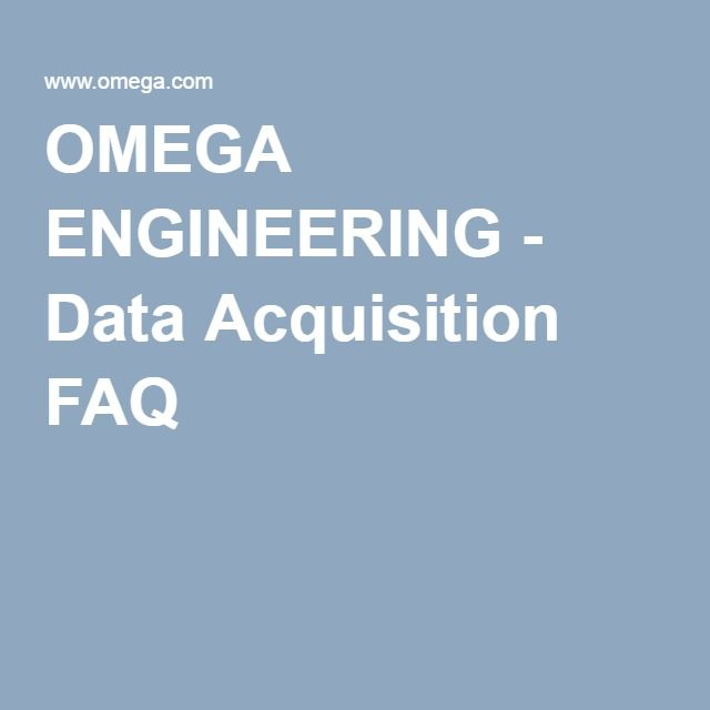 OMEGA ENGINEERING - Data Acquisition FAQ