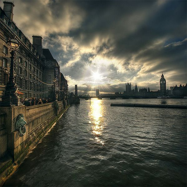 the Thames River in London