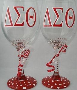 Delta Sigma Theta wine glasses