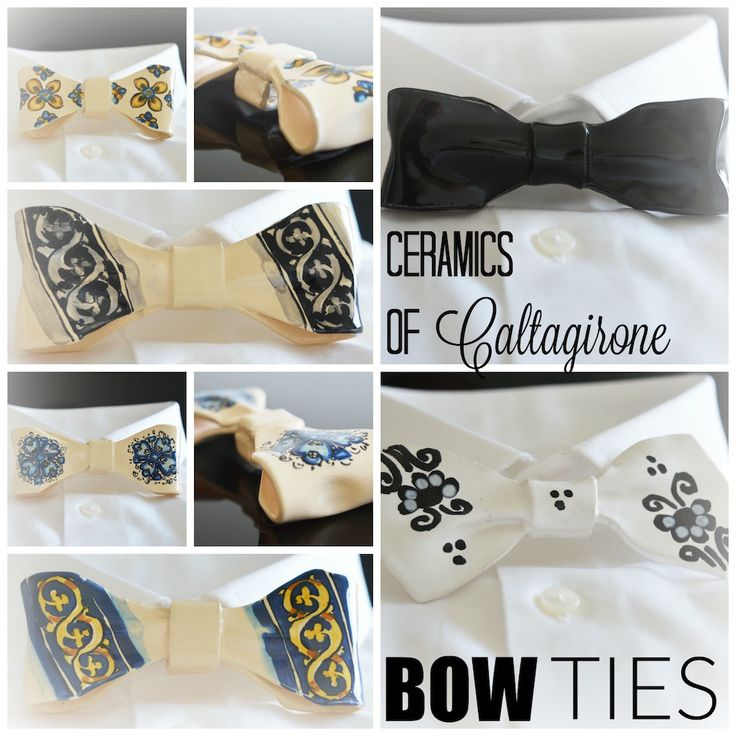 Undoubtedly quirky and unique accessory - bow ties made intirely out of ceramic. It's almost guaranteed that if you show up at a party wearing one of these amazing pieces you'll turn quite a few heads.