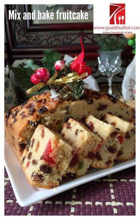 How To Bake A Simple Fruit Cake
