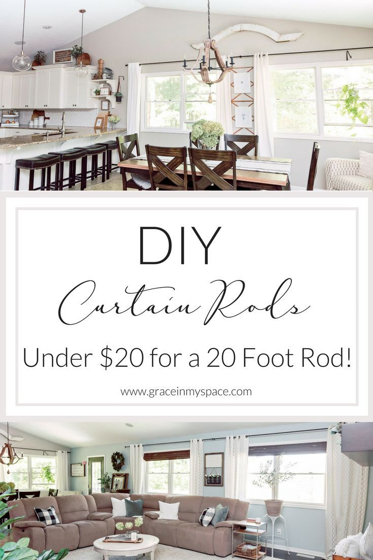Diy Curtain Rods Under 20 Up To 20 Feet Diy Curtain Rods